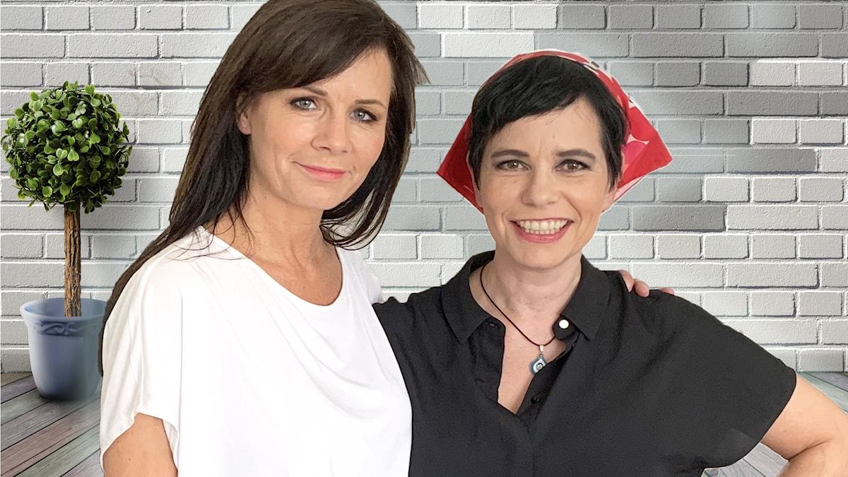 Lena Philpsson och  Carolina Norén.