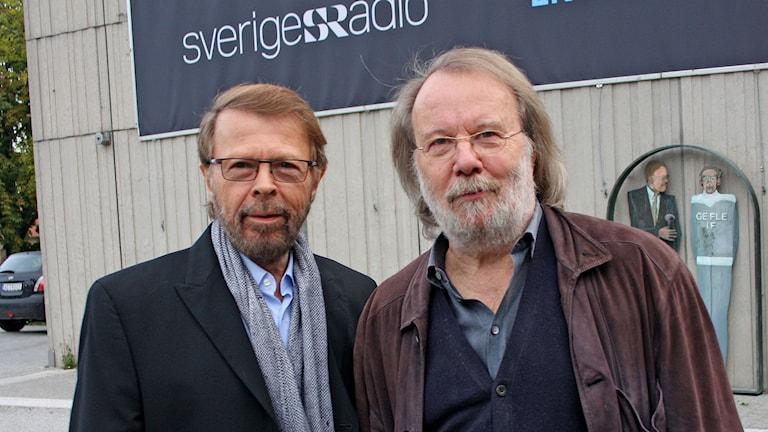 Björn Ulvaeus & Benny Andersson. Foto: Benjamin Thorén/Sveriges Radio