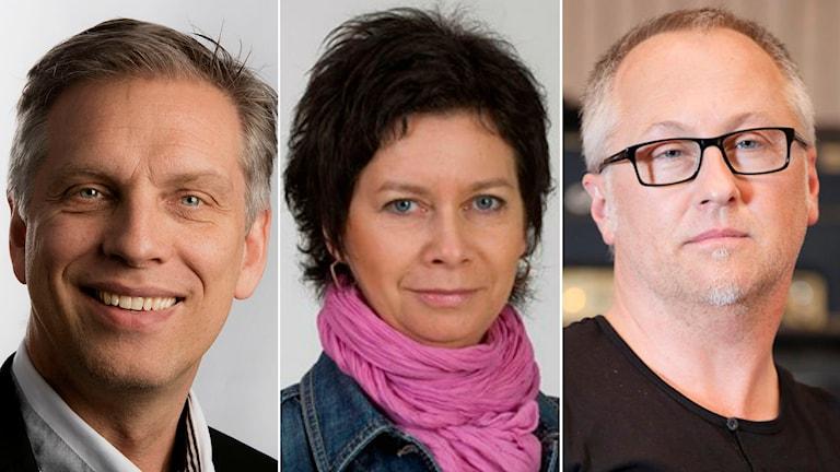 Ulf Sigmundsson, Rita Jernquist och Olle Nilsson. (Foto: Ulf Palm, Ateljé Carla, Torbjörn Lagerwall)
