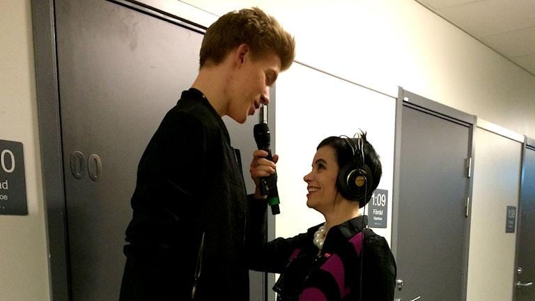 Kalle Johansson & Carolina Norén (Foto: Agneta Nilsson/Sveriges Radio)
