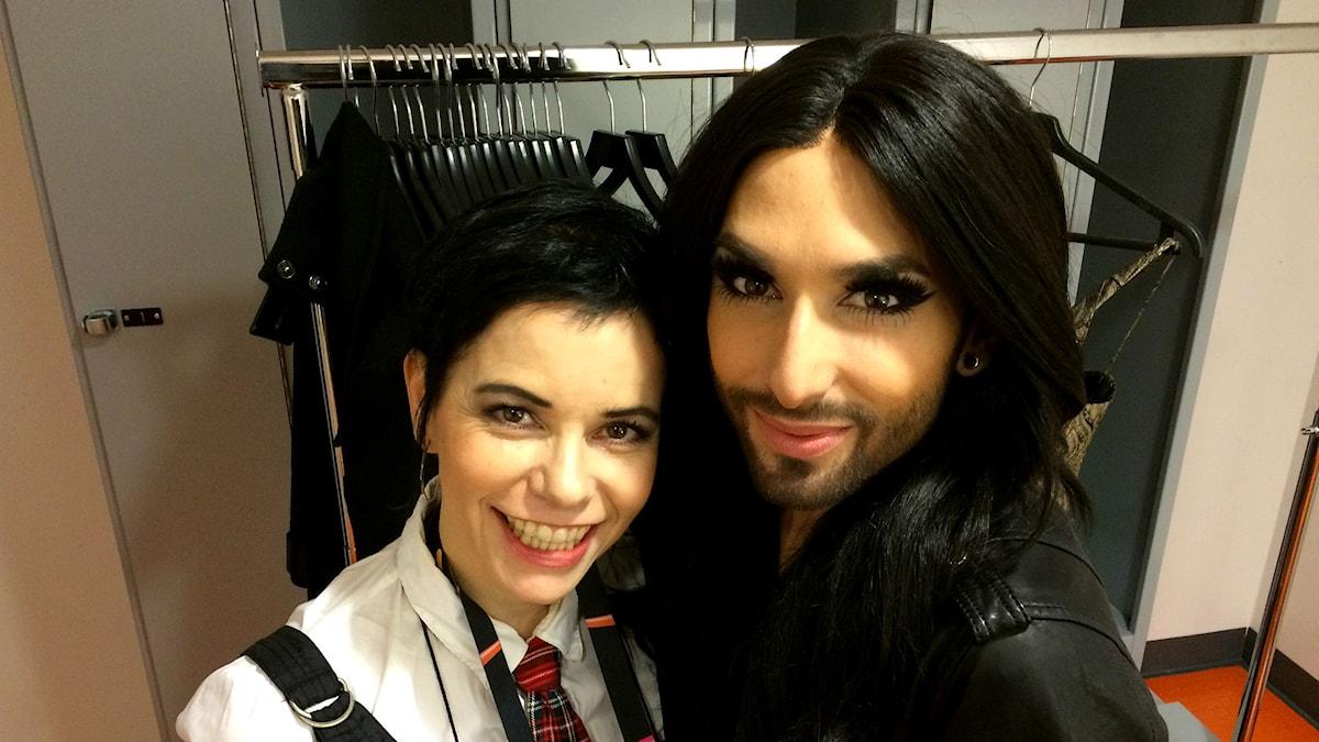 Carolina Norén och Conchita Wurst