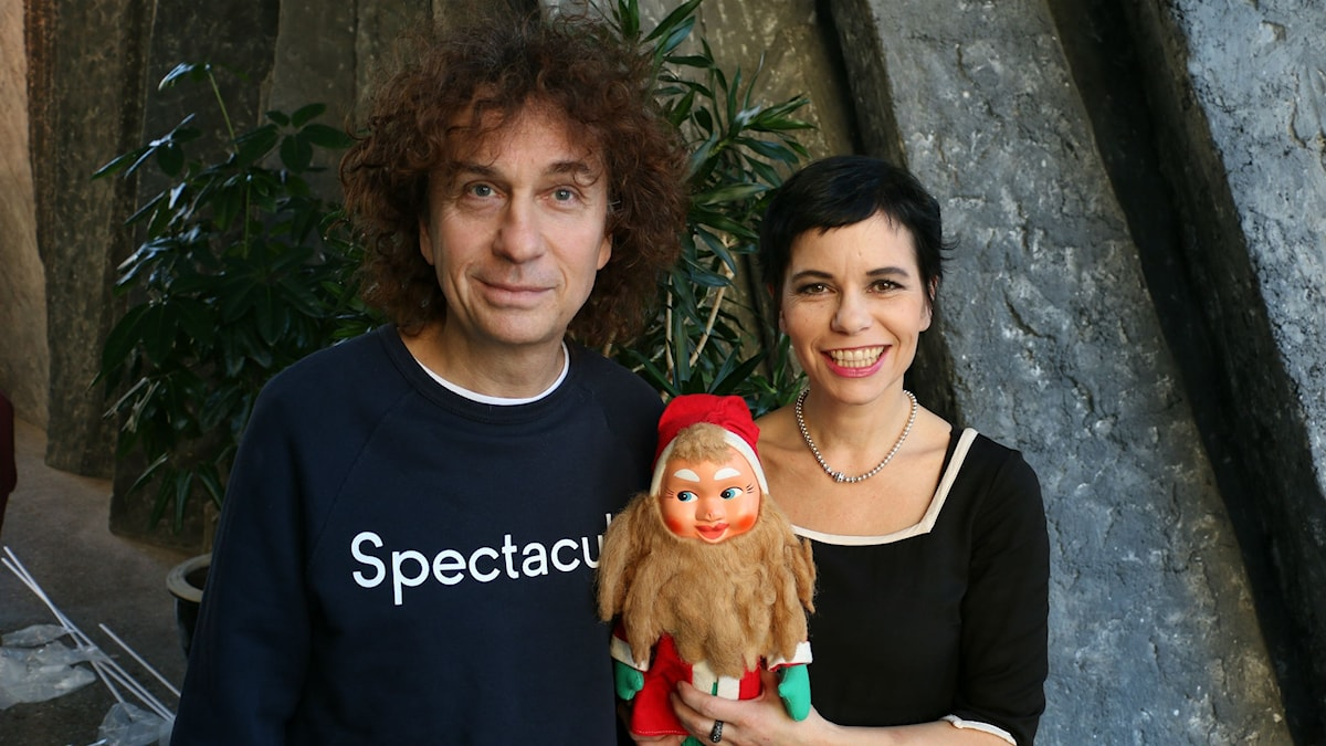 Magnus Uggla och Carolina Norén (Foto: Ronnie Ritterland/Sveriges Radio)
