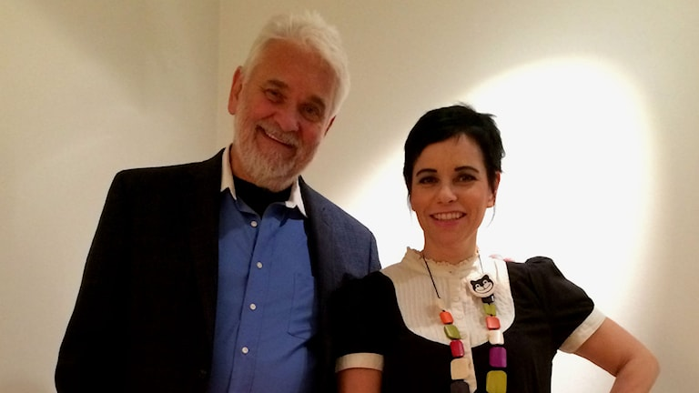 Hasse Andersson och Carolina Norén (Foto: Ronnie Ritterland/Sveriges Radio)