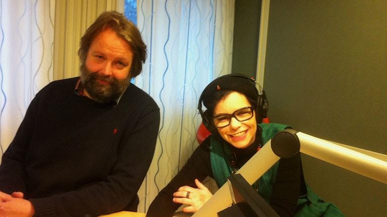 Jonas Westman och Carolina Norén (Foto: Erland von Heijne/Sveriges Radio)