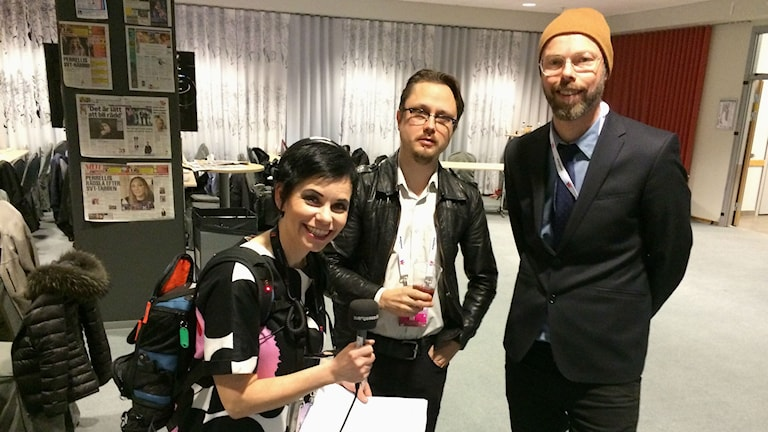 Carolina Norén och Marcus Larsson och Anders Nunstedt