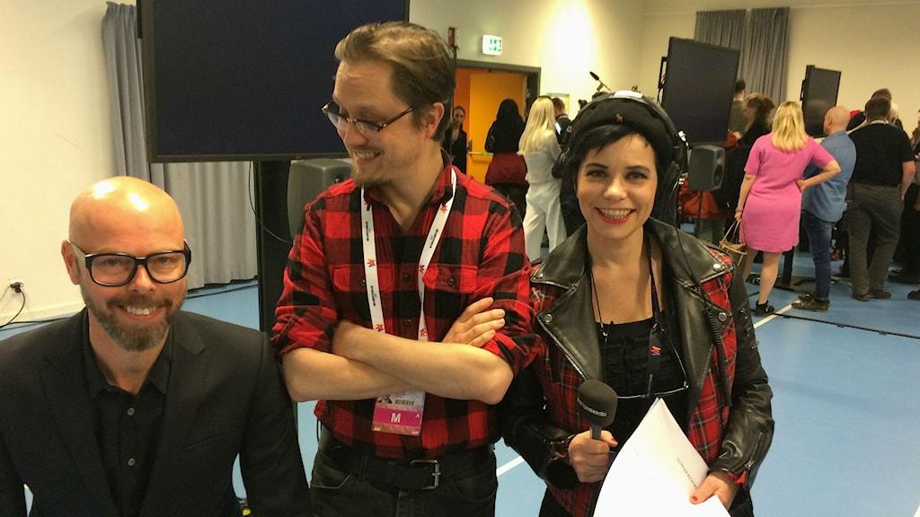 Anders Nunstedt och Marcus Larsson och Carolina Norén