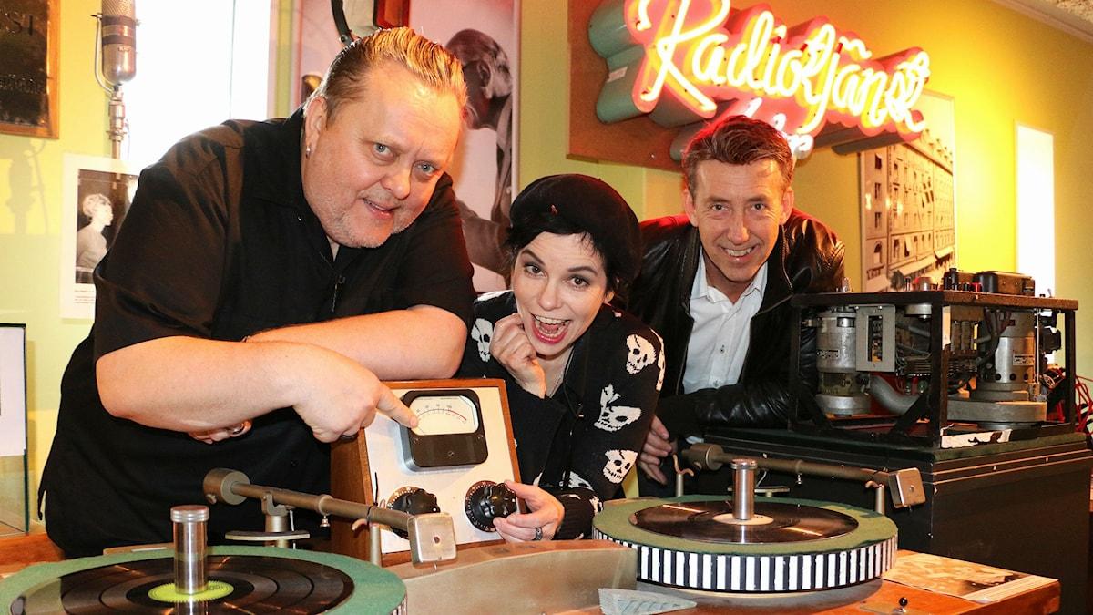 Hannu Kiviaho och Thomas Pareigis i Fatboy tillsammans med Carolina Norén