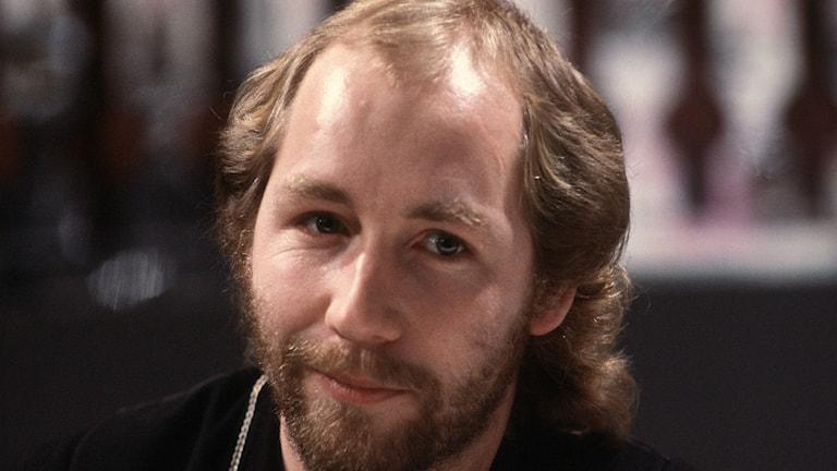 Janne Lucas Persson i Melodifestivalen 1980 när han deltog med Växeln Hallå