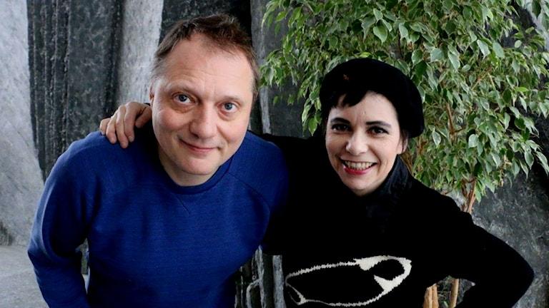 Magnus Carlson och Carolina Norén
