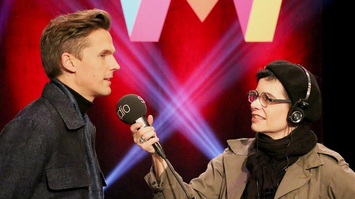 David Lindgren och Carolina Norén