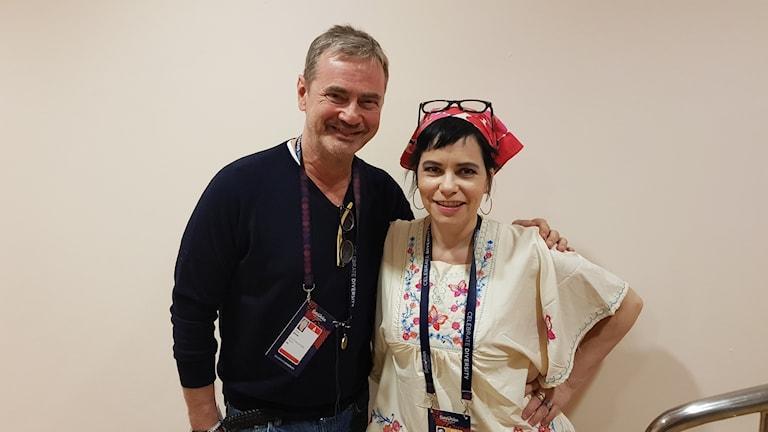 Christer Björkman och Carolina Norén