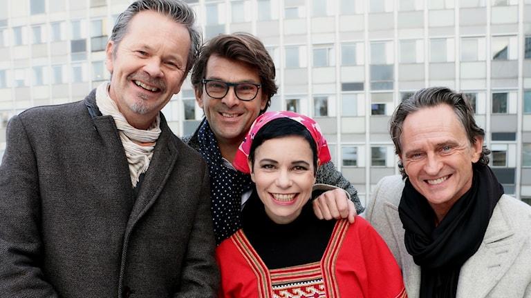 Anders Glenmark Niklas Strömstedt Carolina Norén och Thomas Orup Eriksson i GES