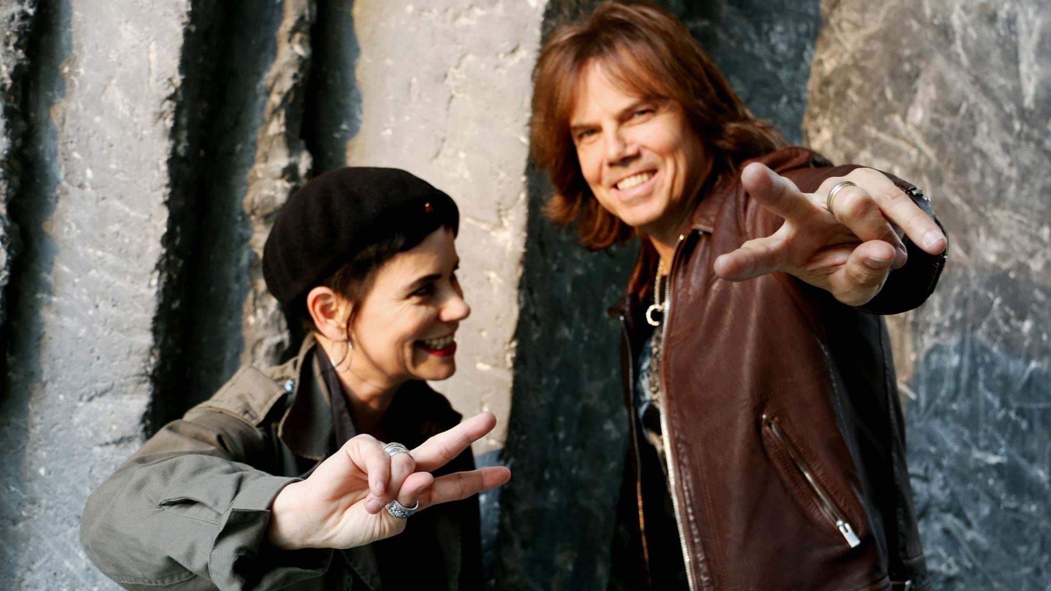 Carolina Norén och Joey Tempest