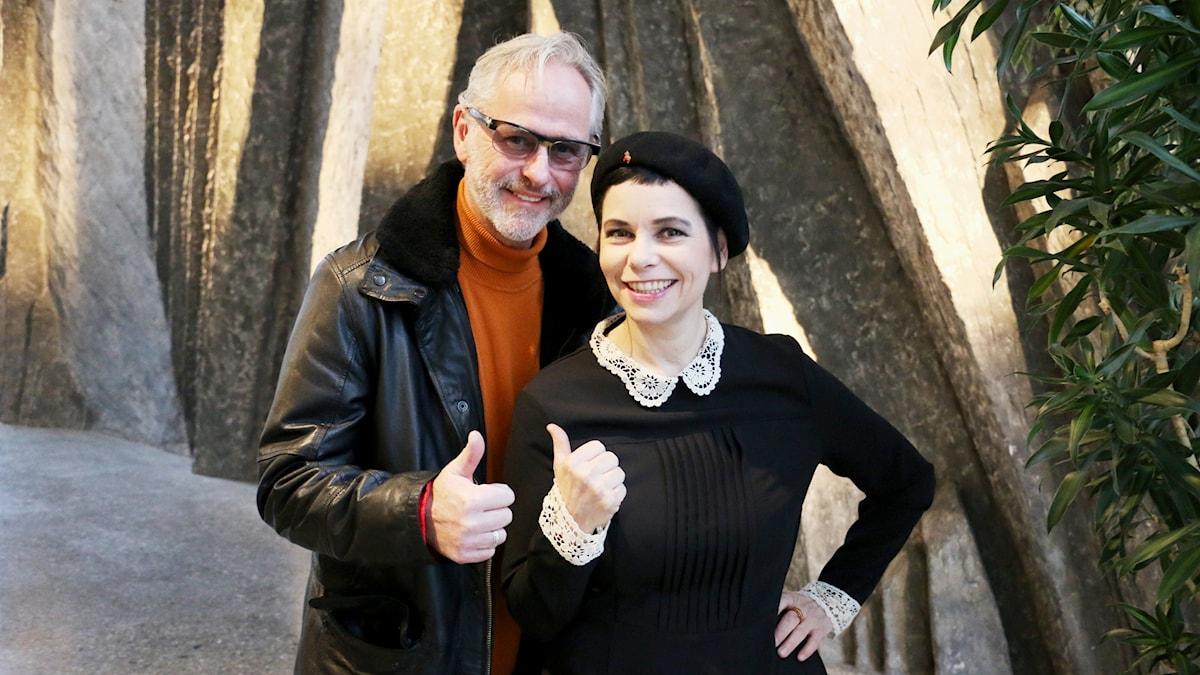 Uno Svenningsson och Carolina Norén