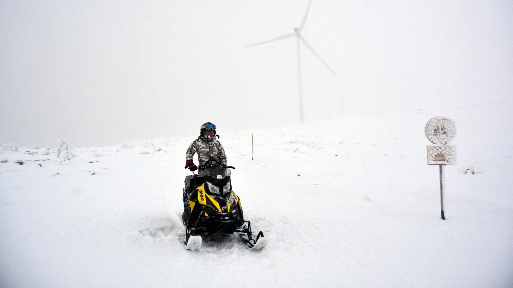 Vindkraftverk i Glötesvålen.