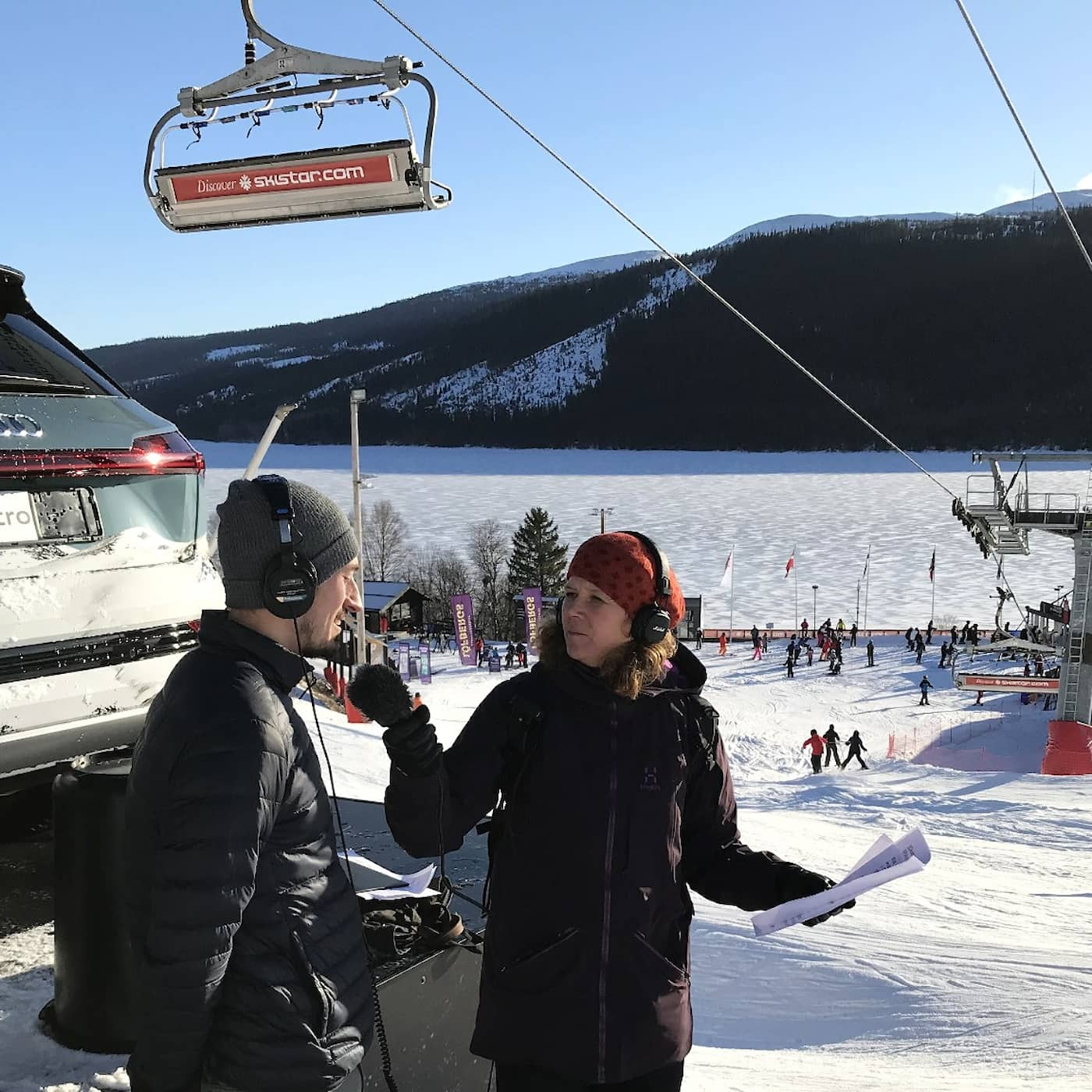 Skidor utan snö