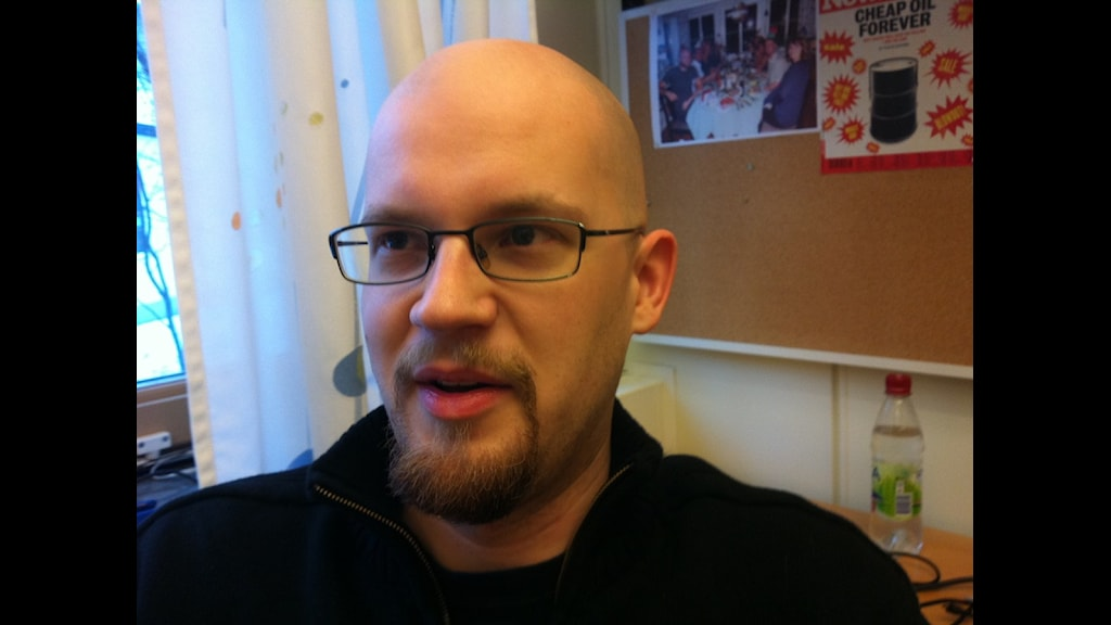 Mikael Höök, forskar om kol på Uppsala Universitet. Foto:SR/Bergendorff