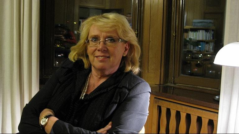 """Sveriges miljöminister Lena Ek medlade i den besvärliga frågan om """"loss and damage"""" Foto: Kristola/SR"""