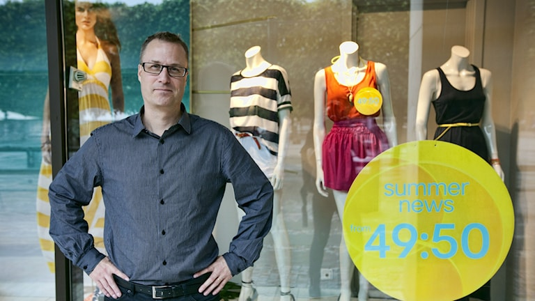 Chefen för Mistra Future Fasion-programmet Mats Westin på SP Sveriges tekniska forskningsinstitut. Foto: SP