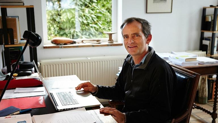 Prof. Eric Lambin vid Stanford forskar bla om palmolja. Foto: Volvo Environment Prize