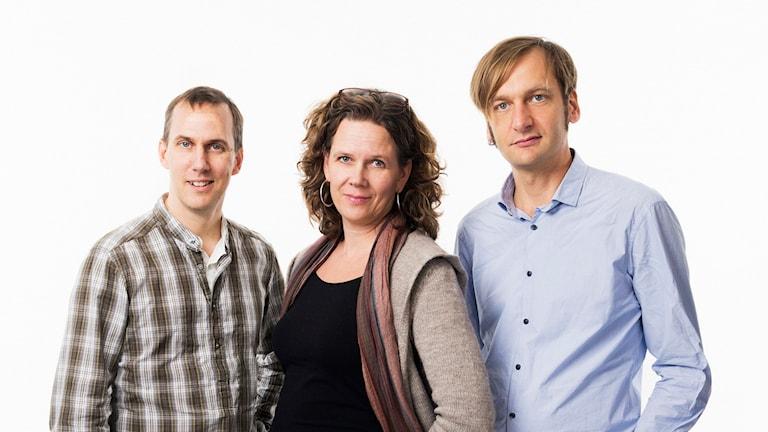 Klotets Johan Bergendorff, Marie-Louise Kristola & Marcus Hansson. Foto: Mattias Ahlm/Sveriges Radio