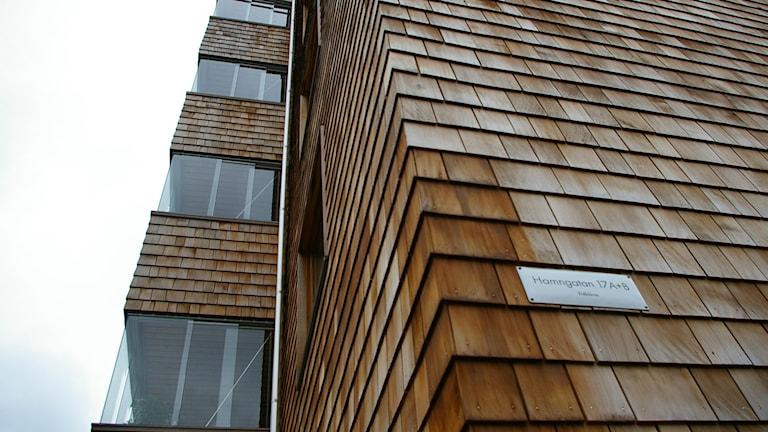 Trähus i 8 våningar i Sundbyberg. Foto: Björn Gunér/SR