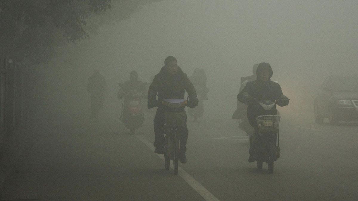 Smoggen ligger tät