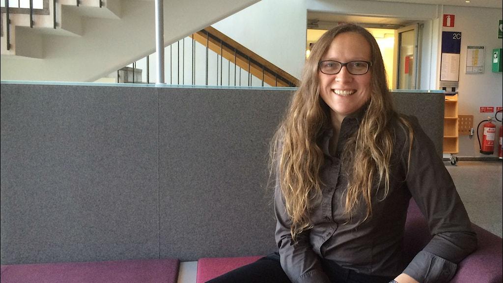 Magdalena Kuchler, forskar på globala energisystem på Uppsala Universitet. Foto: ML Kristola/SR