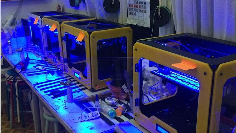 3D skrivare som printar ut material för kläder