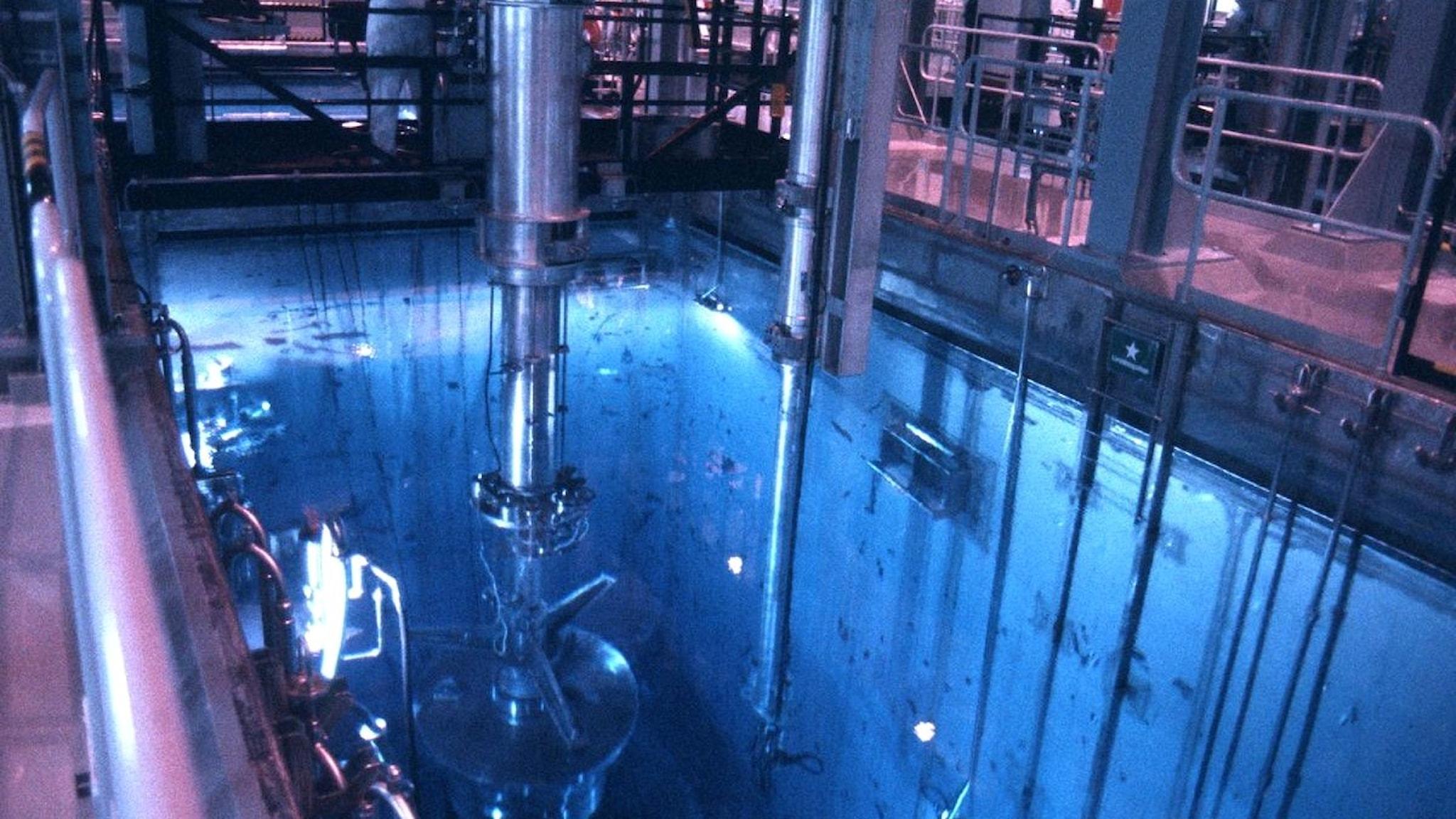 Mellanlager av svenkst kärnbränsle CLAB. Foto: SVT bild