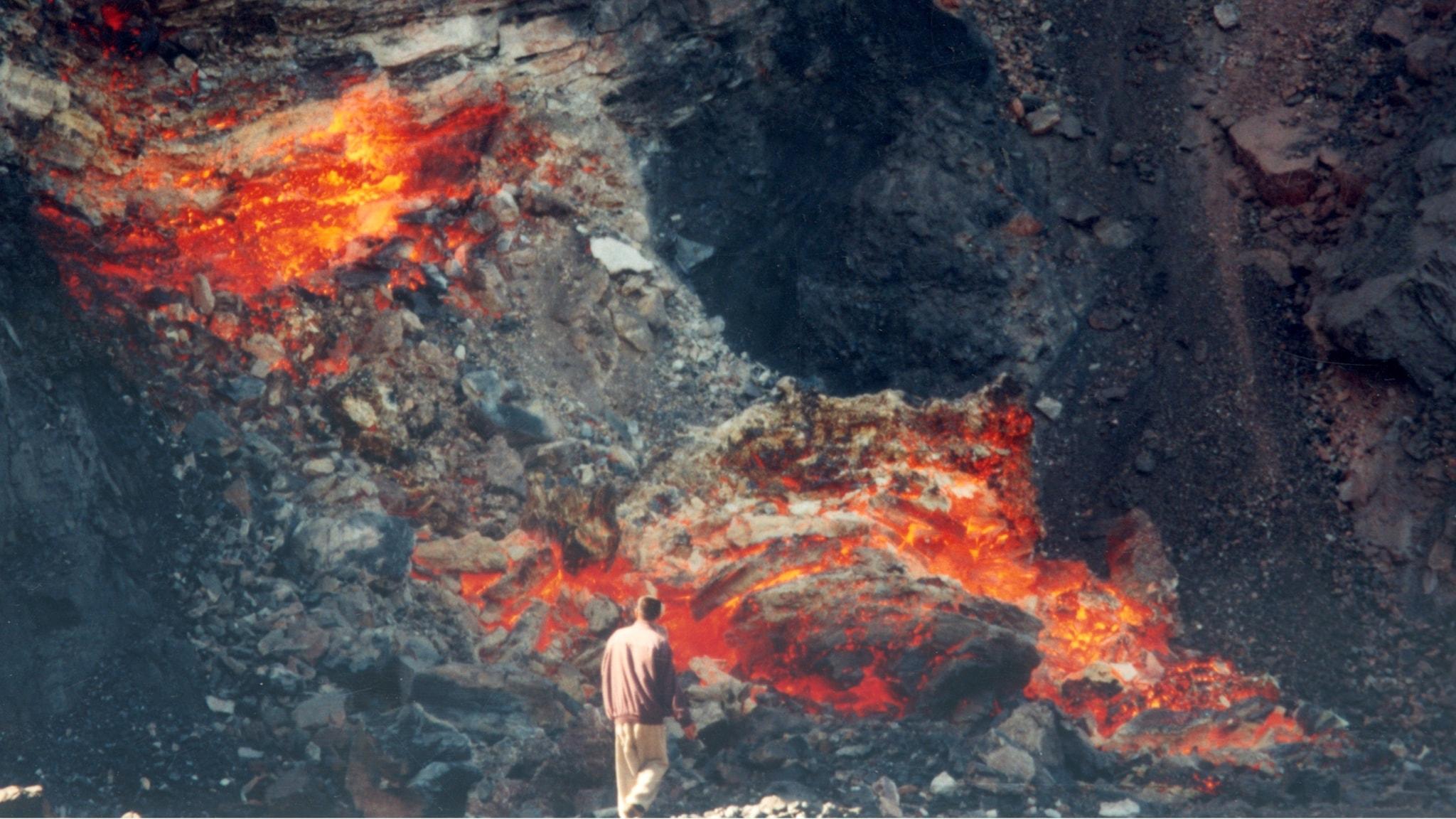 Kolbrand i dagbrottet i Ruqigou gruvan i Kina.