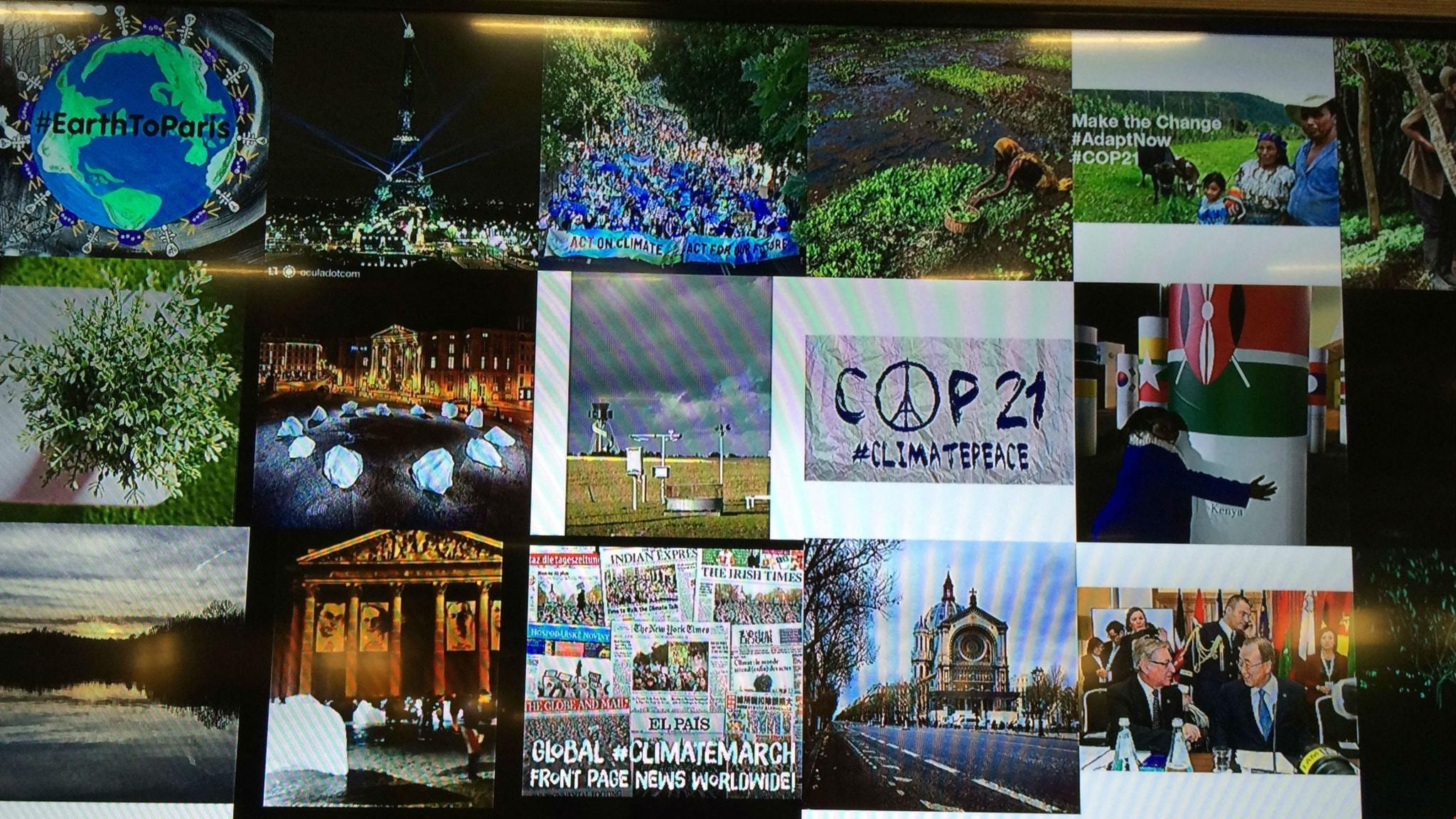 Collage på klimatmötet i Paris