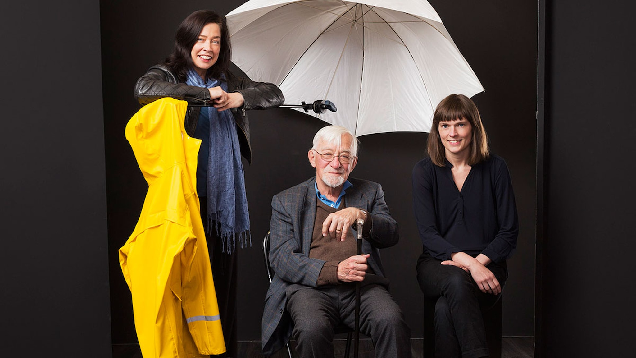 Bokcirkeln: Marie Lundström, Lars Gustafsson och Frida Nilsson. Foto: Mattias Ahlm/Sveriges Radio.