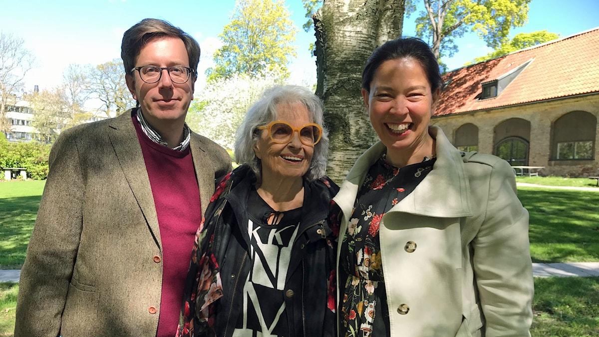 Eric Schüldt, Gunnel Lindblom och Marie Lundström.