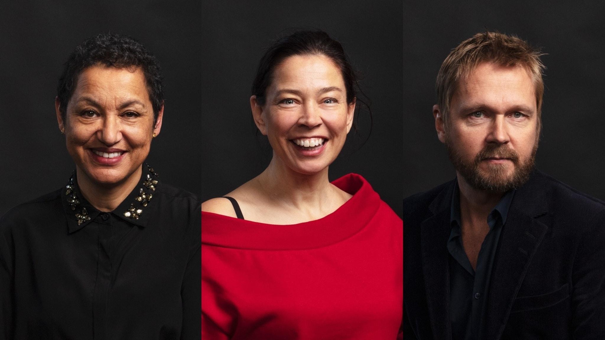 Bokcirkeln går i mål med Astrid Assefa, Marie Lundström och Björn Wiman.