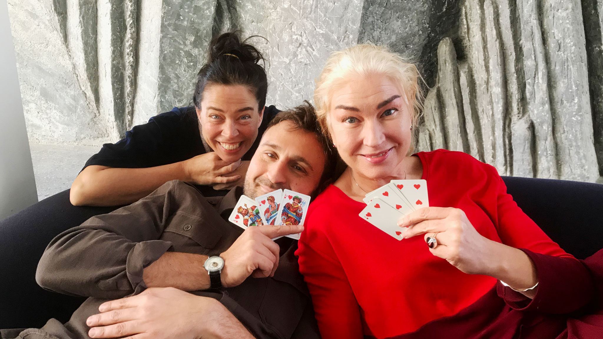 Marie Lundström, Johar Bendjelloul och Eva Beckman.