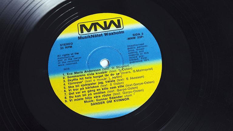 Vinylskiva. Foto: SVT bild.