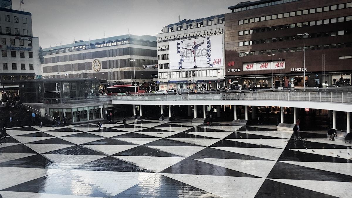 Plattan vid Sergels torg i Stockholm.
