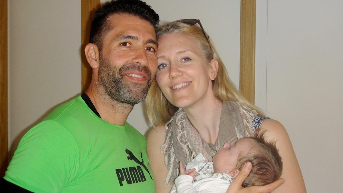 Ismaél, Hanna och dottern Laura.
