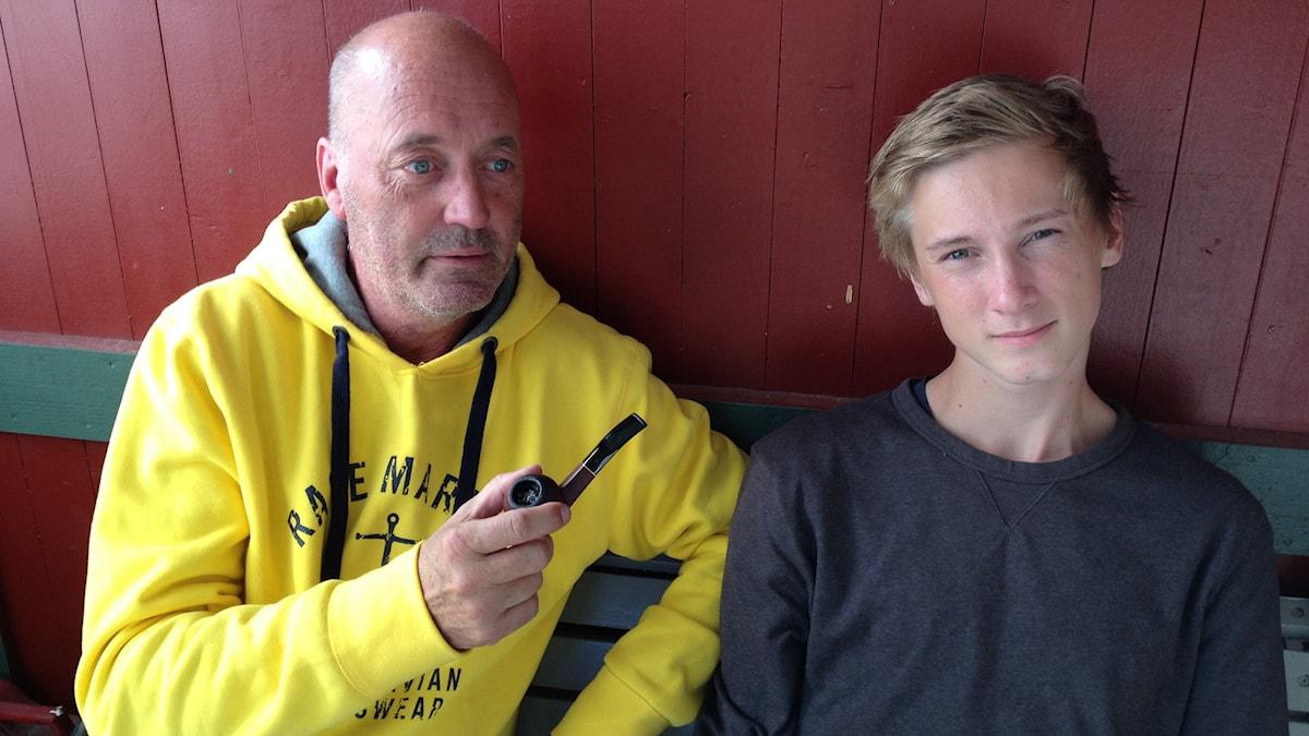 Mats med sonen Nico. Foto: Anna Ivemarn/Sveriges Radio