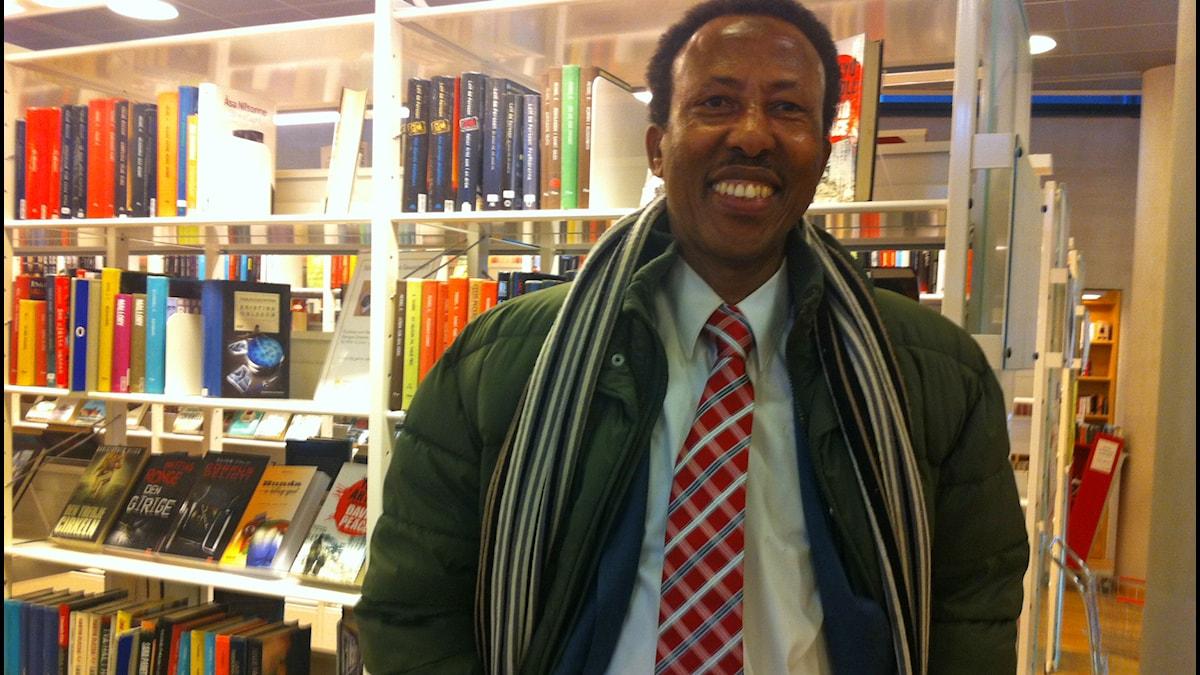 Abdinoor på biblioteket i Växjö.