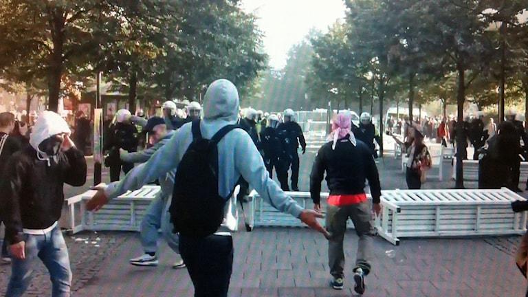 tdemonstrationerna i Kungsträdgården