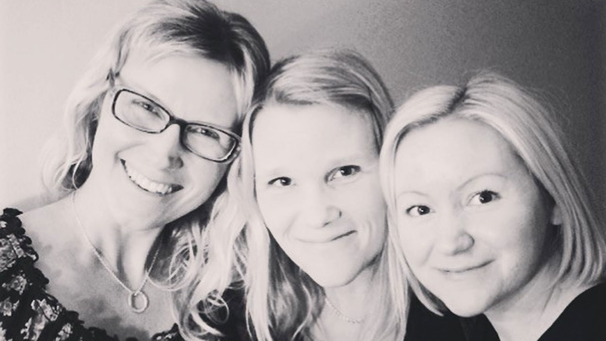 Sara Boström, Emma Svedlund och Anna Samuelsson. Foto : Privat