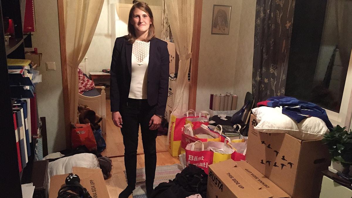 Jessica Olsson valdes som ordförande men uteslöts av moderpartiet. Foto: Sigge Dabrowski/SR