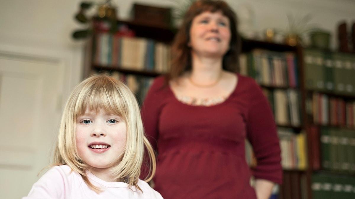 Maria Hasselblad med dottern Linnea