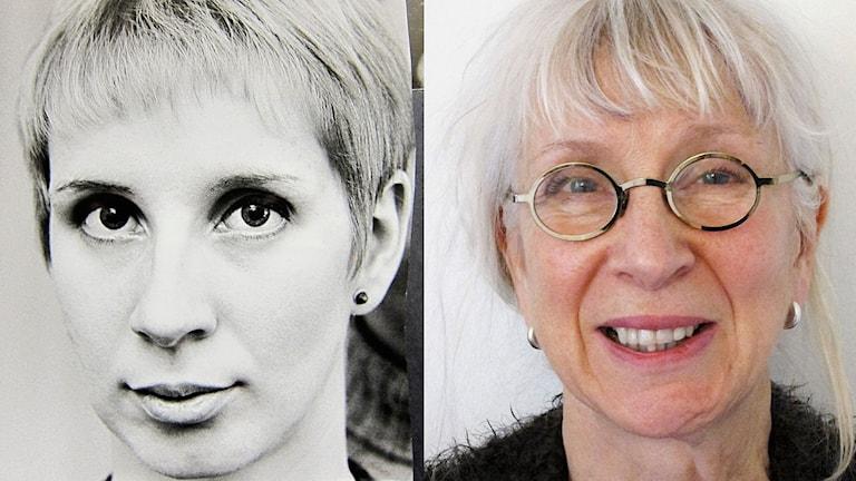 Suzanne Osten som ung och som äldre feminist.