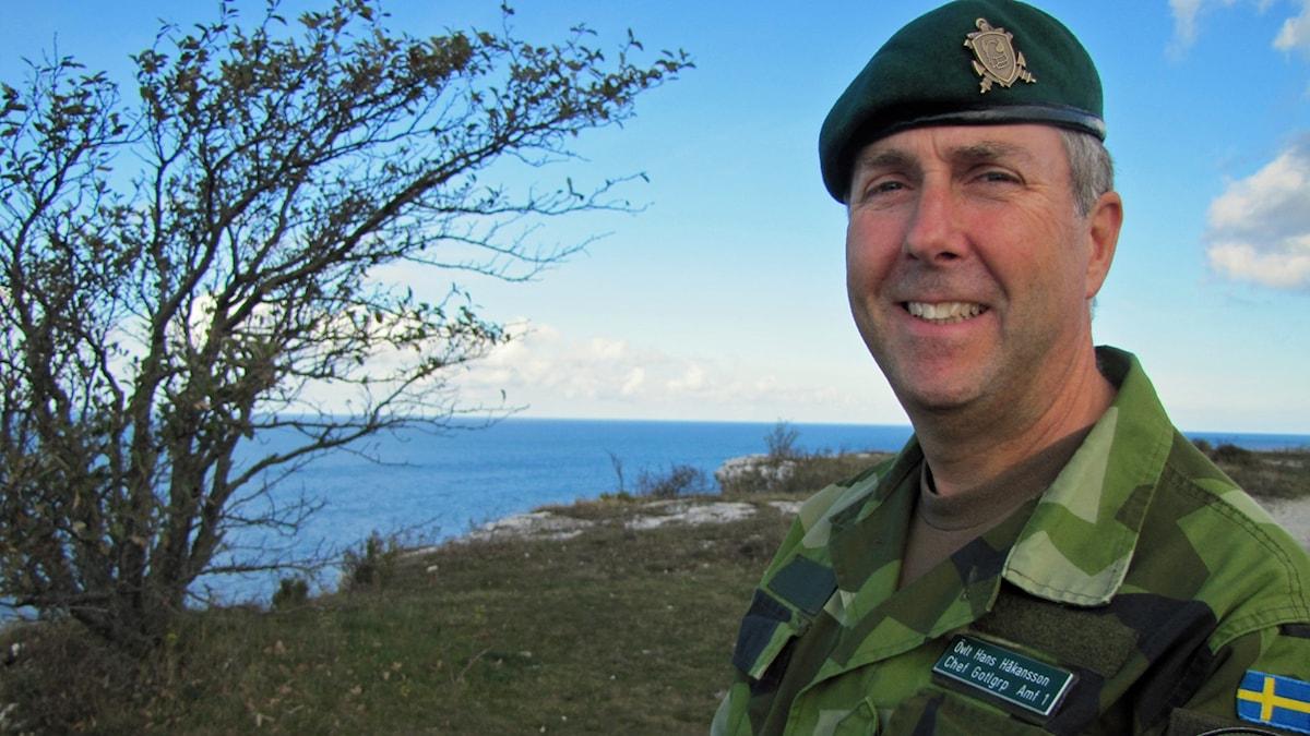 Hans Håkansson, chef för Hemvärnet, Gotlagruppen.