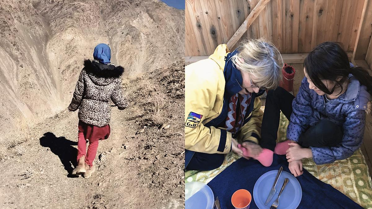 Guldkråkan i Afghanistan och när hon var på utflykt med Eva på Gotland.