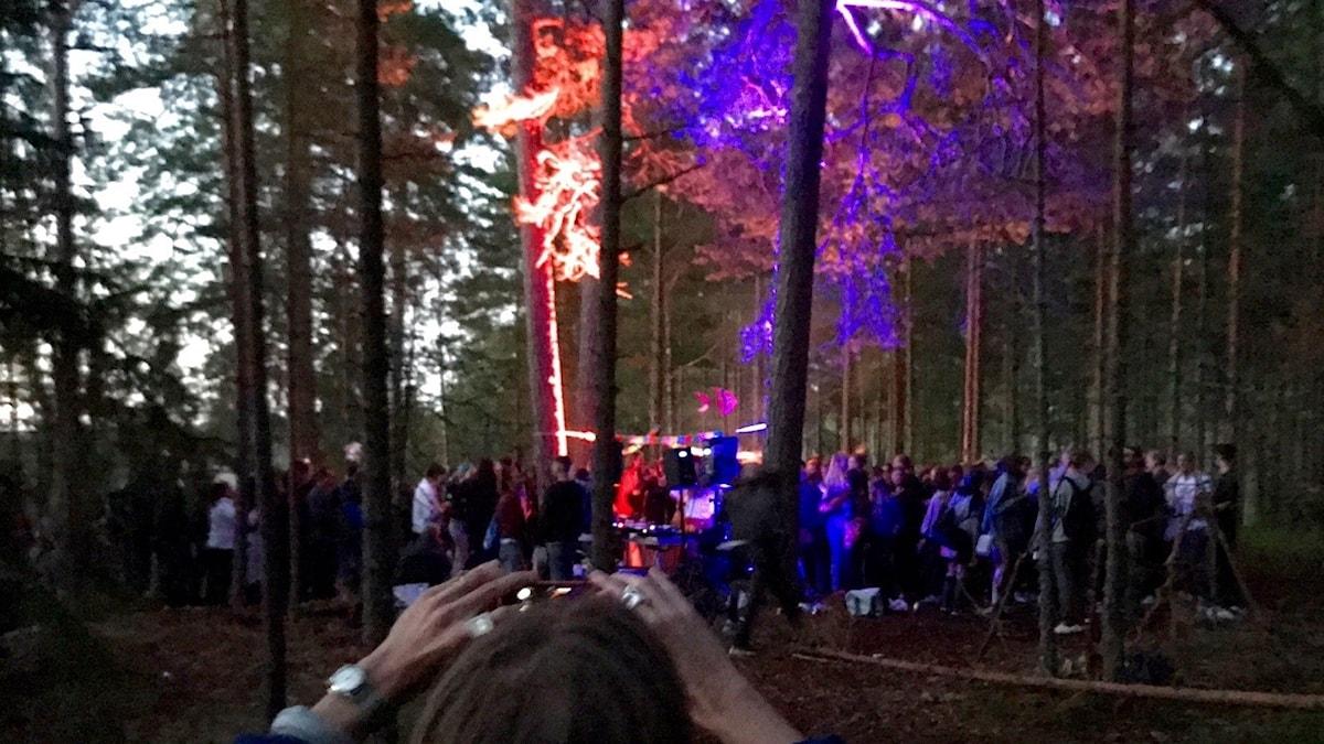 Open air-fest utanför Stockholm