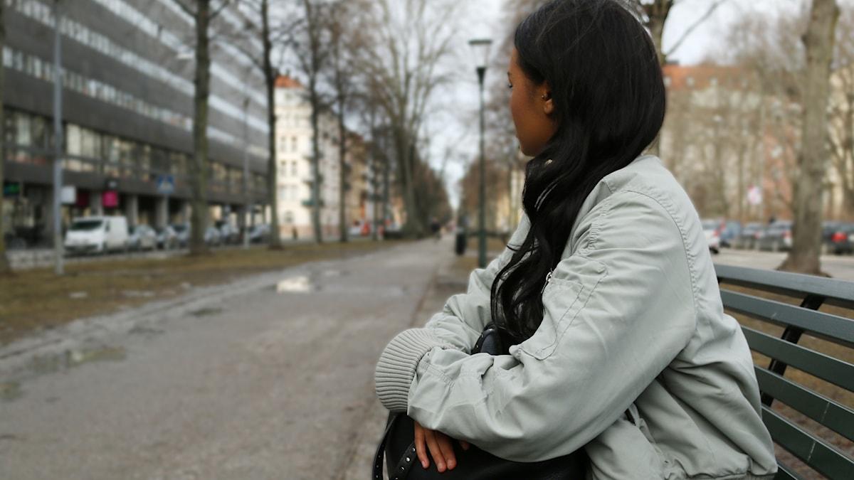 """Efter tre år på ett skyddat boende har 21- åriga """"Christina"""" nu ingenstans att bo."""